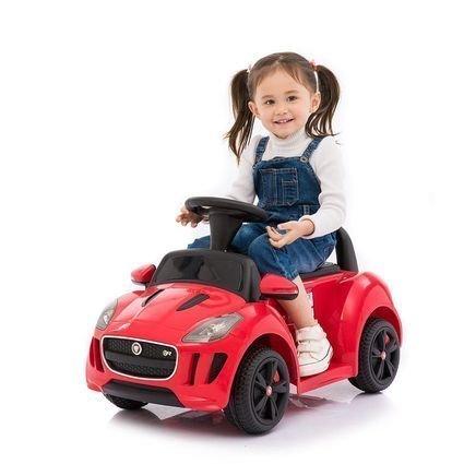 Электромобиль-каталка Dongma Jaguar F-Type Convertible Red 6V 2.4G - DMD-238-R (музыка, пульт, свет фар, ремень, педаль газа)