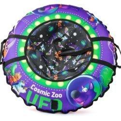 Надувные санки-ватрушка (тюбинг) Cosmic Zoo UFO