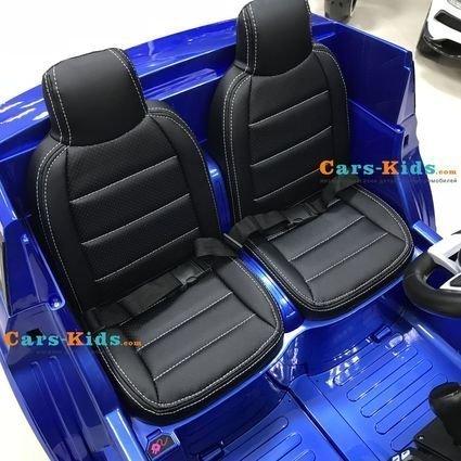 Электромобиль Mercedes-Benz GLS 63 AMG MP3 4WD синий (2х местный, кондиционер, колеса резина, сиденье кожа, пульт, музыка)