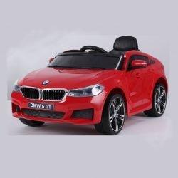 Электромобиль BMW 6 GT JJ2164 красный (колеса резина, кресло кожа, пульт, музыка)