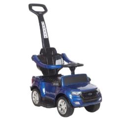 Электромобиль - каталка Ford Ranger DK-P01-P синий (2 в 1, колеса резина, кресло кожа, свет фар, музыка)